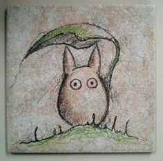 This is my brother's new Etsy store...he is AMAZING!!  Ceramic Tile art  Chibi Totoro on 6x6 ceramic by ScribbleSketches, $12.00