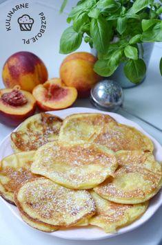Placki z serka homogenizowanego Polish Recipes, Polish Food, Cantaloupe, Pancakes, French Toast, Food And Drink, Meals, Baking, Fruit