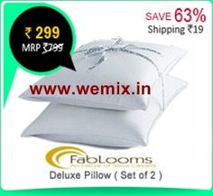 FabLooms Deluxe Pillow Set of 2 Rs. 299