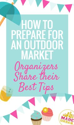 The atmosphere and rules are a little different for outdoor markets compared to your regular craft shows. We asked 4 outdoor market organizers what advice they would give to vendors to be prepared, help attract shoppers and make sales. Click to find out what advice they have for you.