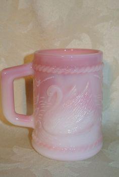 Fenton Rosalene Swan Mug