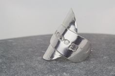 Spoon Ring  hammered ring  chunky ring  by AmySquaredJewellery