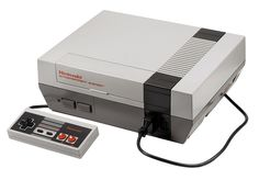 An NES console with controller attached.
