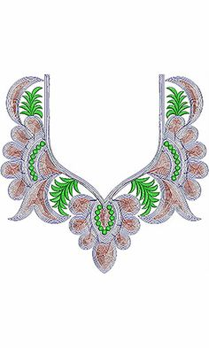 Latest Neck Embroidery Design For Pakistan