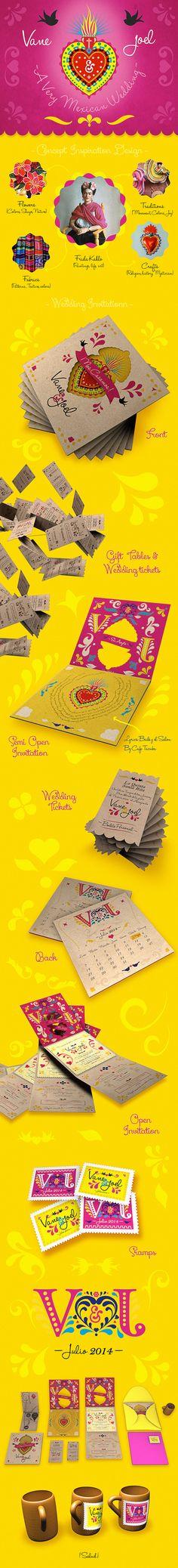 Mexican Wedding Invitation by EÑE Diseño #wedding #mexican #boda #mexicana #invitacion # invitation #rosa #mexican pink #frida