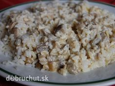 Šampiňónové šťavnaté rizoto