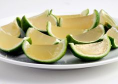 The skip the salt-rimmed glass and go straight for these adorable and wiggly lime wedge jello shots infused with tequila, Triple Sec, lime juice, and sugar. It takes some prep work, but the super cute results are totally worth it.
