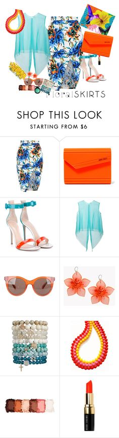 """""""Flower"""" by claire86-c on Polyvore featuring moda, New Look, Jimmy Choo, Gianvito Rossi, Delpozo, Marc by Marc Jacobs, Dsquared2, NYX, Bobbi Brown Cosmetics e MAC Cosmetics"""