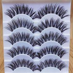 bebe7088580 Gracious Makeup 5Pairs Handmade Natural Long False Eyelashes Extension  Exquisite 652731182762   eBay #Makeup Carefully