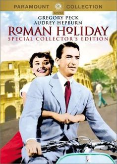Roman Holiday, with Gregory Peck and Audrey Hepburn. (I'm really showing my age here, but Audrey Hepburn was a lady, not a tart and Gregory Peck was a man, not an overgrown boy. Best Movies List, Movie List, Great Movies, Audrey Hepburn Roman Holiday, Audrey Hepburn Movies, Cinema Tv, Films Cinema, Love Movie, Movie Tv