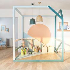 Un espace de jeux pour les enfants bien délimité/ #salledejeux