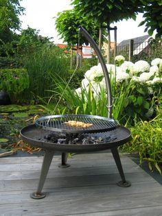 Schwenkgrill au feu de bois. Schwenkgrill-nielsen-Fire-Pit-