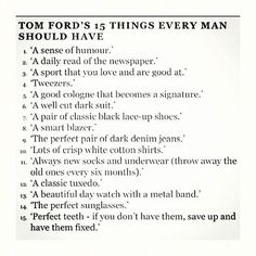 Tom Ford's Rules