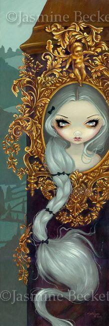 Rococo Rapunzel Gothic Big Eye Fairy Tale Art Big Print Ebay