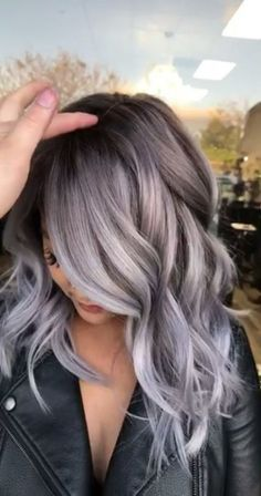 silver hair hair color I will do this soon! If i ever go back to a brunette for the white to grow out, but with a lavender tint Hair Color 2018, Hair Color And Cut, Cool Hair Color, Grey Hair Colors, Silver Hair Colors, Hair Color Ideas For Black Hair, Unique Hair Color, 2018 Hair Color Trends, Metallic Hair Color