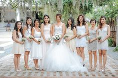 Every time a pretty wedding ends up the doorstep of Bride and Breakfast, I can't help but say a little prayer of thanks that I get to surround myself… Brides And Bridesmaids, Bridesmaid Dresses, Wedding Dresses, Short Lace Dress, Lace Dresses, Tagaytay Wedding, Bride And Breakfast, Little Prayer, Vows