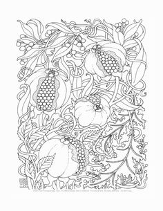 Adult Coloring Pages Edibles Set of 8 от emerlyearts на Etsy