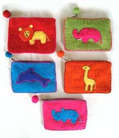 A wholesaler of ethnic gifts and handmade paper. Felt Pouch, Pot Holders, Africa, Pouches, Ethnic, How To Make, Handmade, Gifts, Diy
