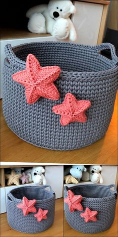 Stylish Crochet basket design Knitting TechniquesKnitting For KidsCrochet ProjectsCrochet Amigurumi Beau Crochet, Crochet Home, Cute Crochet, Beautiful Crochet, Crochet Crafts, Crochet Dolls, Crochet Projects, Knitting Patterns, Crochet Patterns