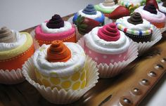 Diaper cup cakes
