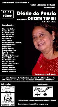 Agenda Cultural RJ: Diário da Poesia - dia 20 de maio, homenageando Ol...