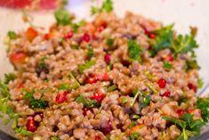 Speltkerne salat med kerne og granatæble er sundt og lækkert