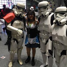 #NYCC #NYCC2015 #NewYorkComicCon2015 #Cosplay #StormTroopers #AliceInWonderland