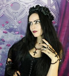 Moonmaiden Gothic Clothing - MY BEAUTIFUL GOTHIC Rose and Cross Adjustable Necklace