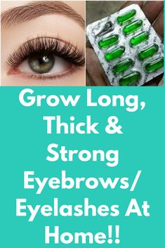 Grow Long, Thick & Strong Eyebrows/Eyelashes At Home!! This homemade eyelashes and eyebrows growth serum will grow your eyelashes and eyebrows long, thick and strong. It will work 100% effectively and will show results in just 5 days at home Ingredients you will need- 1 teaspoon of aloe Vera gel ½ teaspoon of olive oil 2 teaspoon of castor oil 2 vitamin E …