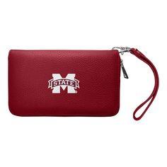NCAA Mississippi State Bulldogs Zip Pebble Organizer Wallet, Adult Unisex