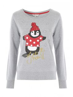 Women's Novelty Penguin Sweater | Peacocks