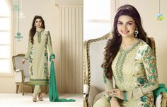 Magnificent Apple and Sea Green Full Sleeve Suit