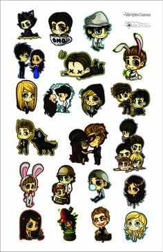 Cartoons de The Vampire Diaries