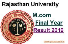 RU M.com Final Result 2016,Rajasthan University M.com Final Result 2016,Uniraj M.com Final result 2016,Uniraj M.com Part II result 2016,Uniraj M.com 2nd Year result 2016,University result,Exam Result,Result 2016,www.result.uniraj.ac.in,Rajasthan University M.com Part II result 2016 Rajasthan University M.com Final Result 2016 – The University of Rajasthan is going to Announce M.Com Final Result 2016 in Last Week of June 2016. Appeared candidates may …