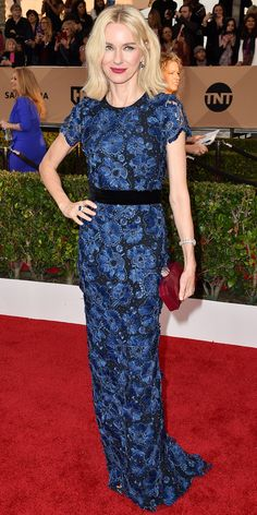 InStyle Fashion News Director Eric Wilson's Top 10 Best Dressed at the 2016 SAG Awards - Naomi Watts in Burberry  - from InStyle.com