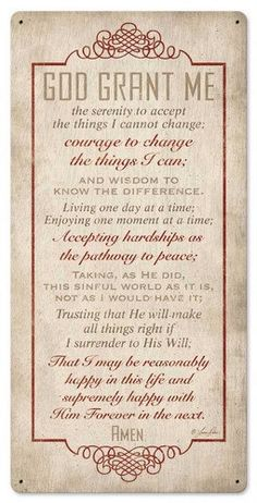 God Grant Me The Serenity Prayer Plaque with Bible Inspirational Verse Christian Religious Lord God Jesus Christ Religion Sign *** Learn more by visiting the image link. Prayer Scriptures, Bible Prayers, Prayer Quotes, Spiritual Quotes, Bible Quotes, Bible Verses, Serenity Prayer, Faith Prayer, My Prayer