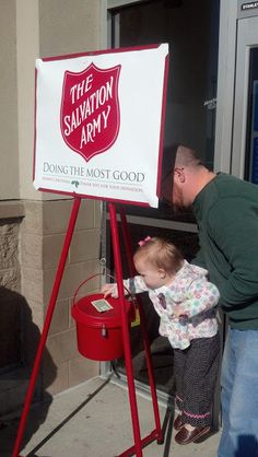 Donate to the Salvation Army Kettle/Bell Ringer.