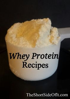 Whey Protein Powder Recipes You can do more than simply add water & drink whey protein powder however you don't have to do much more! Here's a list of protein powder recipes compiled from some of my favorite gym friends … High Protein Snacks, Whey Protein Recipes, Protein Powder Recipes, Whey Protein Powder, Protein Foods, Healthy Snacks, Healthy Recipes, Delicious Recipes, Protein Power