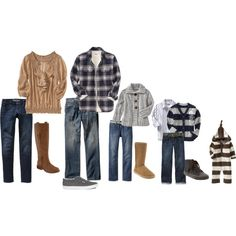 Fall What to Wear for family photoshoot _ maybe just add a little pop of color :)