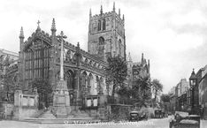 St Mary's Church in the Lacemarket Nottingham City, Black Hood, Derbyshire, Old Buildings, Catholic, England, Memories, Landscape, History