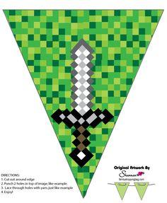 Minecraft Banner Printable