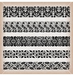 Free Vector | Decorative vintage borders vector - by vtorous on VectorStock®