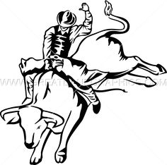 bull riding coloring pages 02 | mason