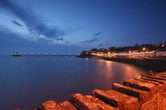 Clevedon Pier at dusk - Somerset, UK Somerset, Dusk, Places Ive Been, Britain, Beautiful Places, England, River, Photography, Outdoor