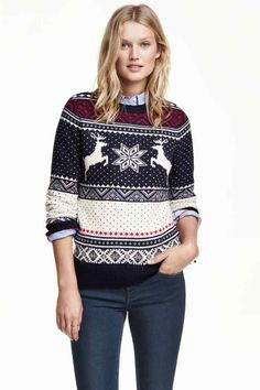 dfee69b1b763 Pullover in maglia jacquard  Pullover in maglia jacquard di misto cotone  con alpaca. Maniche