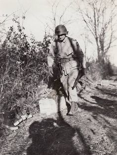 Major General James M. Gavin, commander of the 82nd Airborne Division in Belgium during the Bulge, December 1944.