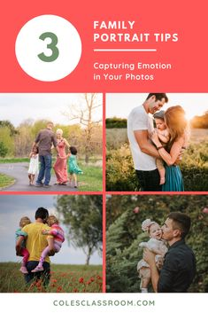 We're sharing 3 tricks on how to successfully nail a family portrait photo session with natural poses and genuine connections that your client will absolutely love! #colesclassroom #photosession #familypicture #photography
