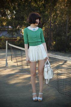 White-skirted-i-any-wear-shorts-light-blue-swedish-hasbeens-clogs
