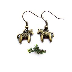 cute horse earrings  ethnic adorable little horse by KicaBijoux, $6.50