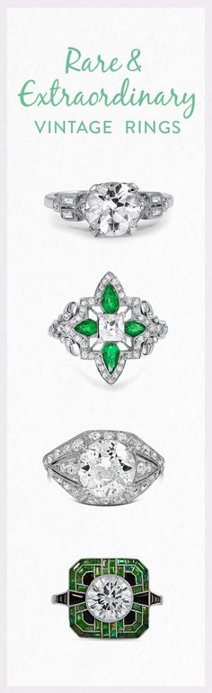 Would you say yes to one of these rare and extraordinary antique rings?